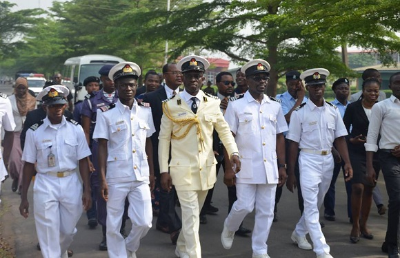 LASU VC,THE UNIVERSITY LIBRARIAN & OUR STUDENTS CADET