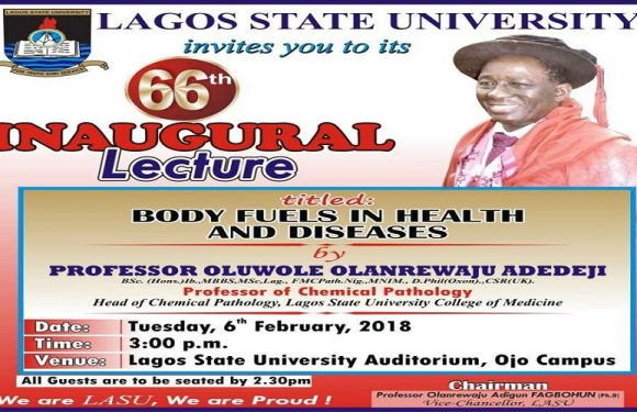 LAGOS STATE UNIVERSITY HOLDS 66TH INAUGURAL LECTURE